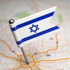 דגל ישראל על מפה