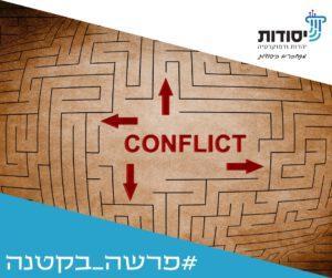 מבוך עם המילה קונפליקט